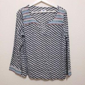 Old Navy Top Polka Dot Tunic Shirt Size Large